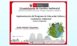 Implementación del Programa EDUCCA - Gobiernos Regionales