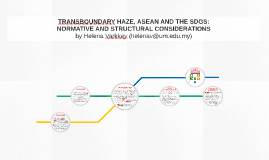TRANSBOUNDARY HAZE, ASEAN AND THE SDGS: