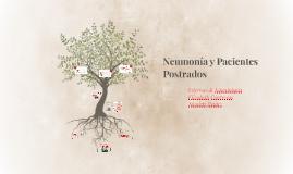 Neumonía y paciente postrado
