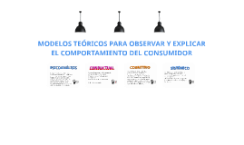Modelos Teóricos de Comportamiento del Consumidor