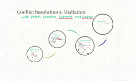 Conflict Resolution & Mediation