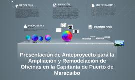 ANTEPROYECTO AMPLIACION CAPITANIA DE PUERTO