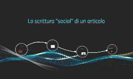 La scrittura social di un articolo