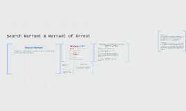 Search Warrant & Warrant of Arrest