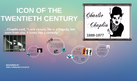 ICON OF THE TWENTIETH CENTURY