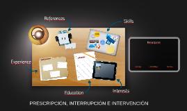PRESCRIPCIÓN, INTERRUPCIÓN E INTERVENCIÓN