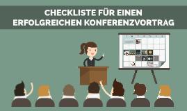 Checkliste für Konferenzvorträge