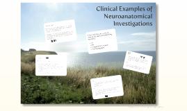 Neuroanatomy and associated investigations