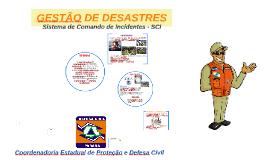 GESTÃO DE DESASTRES