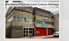 Biblioteca Piloto en Casa Cultura Pedegal