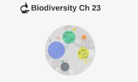 Biodiversity Ch 23