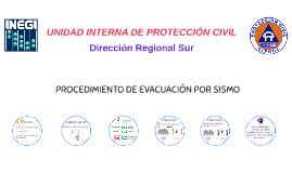 PROCEDIMIENTO DE EVACUACIÓN POR SISMO