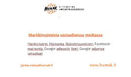 Markkinointi ja brändäys sosiaalisessa mediassa