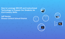 How to Leverage WICOR and Instructional Technology to Prepar