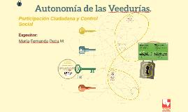 Autonomía de las Veedurías.