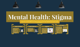 Mental Health: Stigma