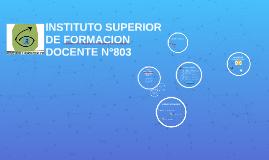Reunión informativa Ingresantes ISFD803