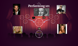 Performing: Plays 101