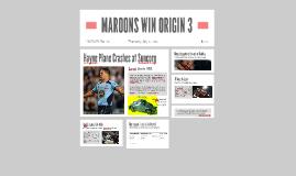 MAROONS WIN ORIGIN 3