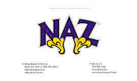 Nazareth College UG Admissions Info - JUNIORS & SENIORS