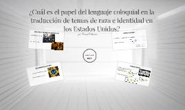Práctica Oral para la clase de traducciòn