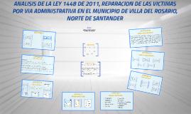 ANALISIS DE LA LEY 1448 DE 2011