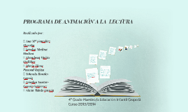 PROGRAMA DE ANIMACIÓN A LA  LECTURA