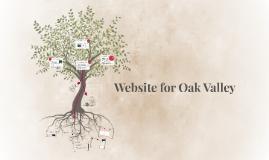 Website for Oak Valley