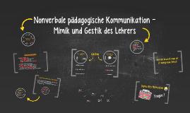 Nonverbale pädagogische Kommunikation -