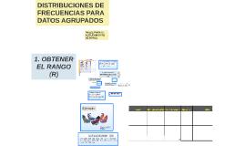 DISTRIBUCIONES DE FRECUENCIAS PARA DATOS AGRUPADOS