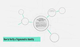 How to Verify a Trigonometric Identity