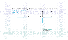 Successfully Flipping the Classroom for Learner Autonomy
