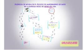 PROPUESTA DE MEJORA EN EL PROCESO DE MANTENIMIENTO DE BUSES