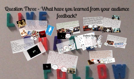 Question Three - What Have You Learned From Your Audience Feedback?