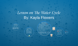 Lesson on The Water Cycle