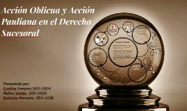 Copy of Accion Oblicua y Accion Pauliana en el Derecho Sucesoral