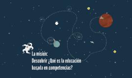Educación basaada en competencias