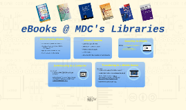 eBooks @ MDC's Libraries