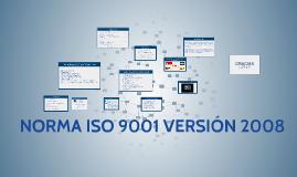 NORMA ISO 9001 VERSIÓN 2008