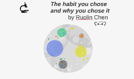 The habit you chose and why you chose it