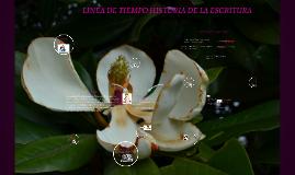 Copy of LINEA DE TIEMPO HISTORIA DE LA ESCRITURA
