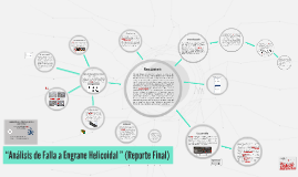 """Avance Final de  Proyecto """"Análisis de Falla a Engrane Helic"""