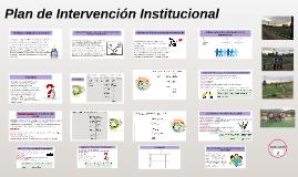 Plan de Intervención Institucional