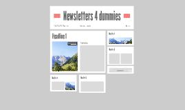 Newsletters 4 dummies