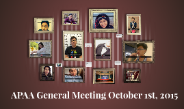 October 1st General Meeting