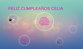 Copy of FELIZ CUMPLEAÑOS CELIA