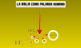 La Biblia como palabra humana