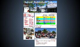 Summer Explorations 2016