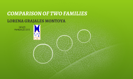 COMPARISON OF TWO FAMILIES