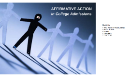 Affirmative Action in College Admissions (TOK)